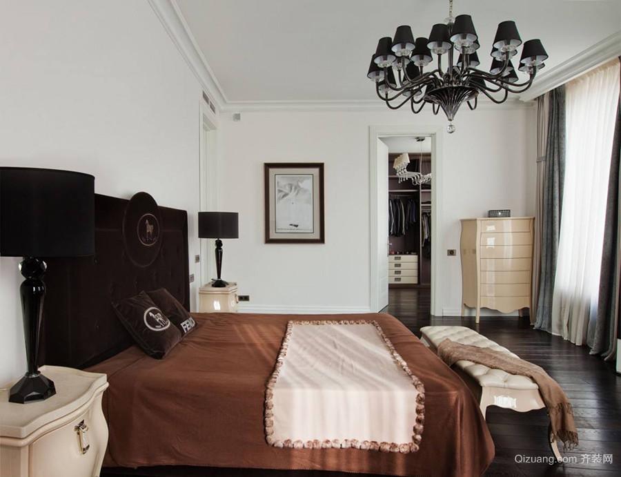 美式装修卧室隔断衣帽间案例