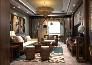 东南亚风格禅意客厅大气设计图