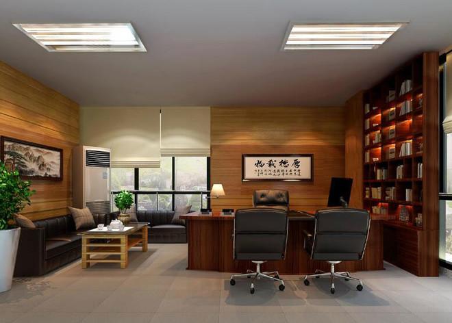 办公室条形灯效果图