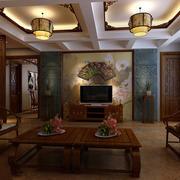 客厅中式灯具别墅装修
