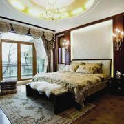 欧式卧室硅藻泥床头效果图案例