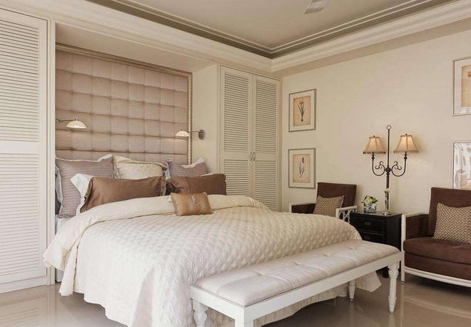 欧式风卧室软包床头背景墙案例