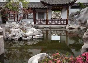 传统中式园林博物馆效果图