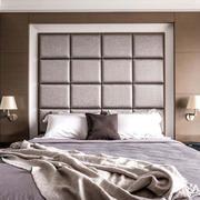 精致简欧风卧室背景墙软包效果图