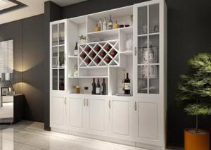 白色欧式酒柜效果图