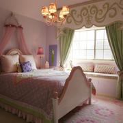 女孩房间窗帘效果图