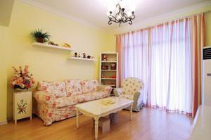 韩式田园风格时尚精美客厅装修效果图