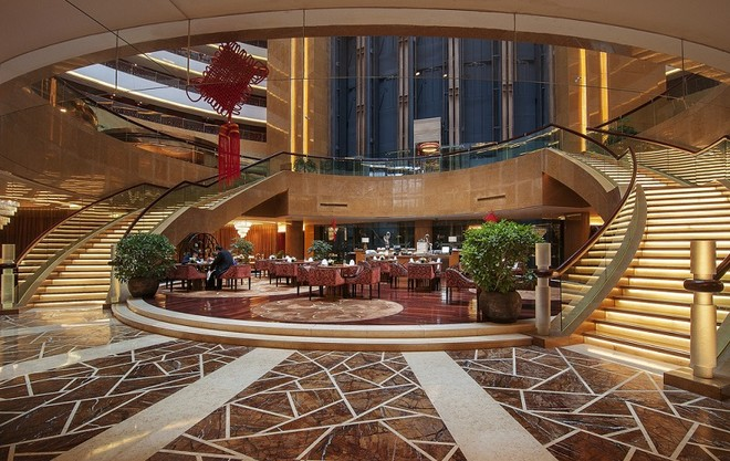 欧式风格时尚5星级酒店大厅精致装修图