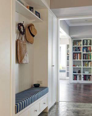 进门鞋柜带凳子效果图