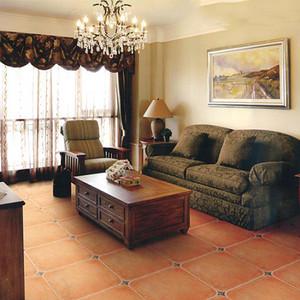复古地板砖客厅效果图赏析