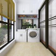 阳台洗衣机柜子效果图