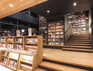 木质书架墙效果图