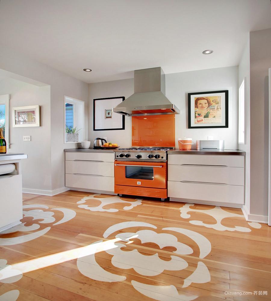 厨房墙砖地砖颜色搭配效果图