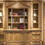 中式实木书柜效果图赏析