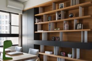 现代中式书柜效果图大全