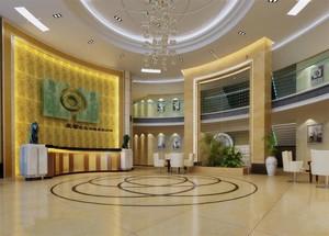酒店大厅吊顶装修效果图赏析