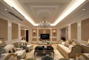 客厅三级吊顶效果图,客厅的设计在吊顶上是一大特色,整个客厅在装修时采用了三级吊顶,这样既突出客厅的豪华感又有一种层次感,从而体现出主人的大度。