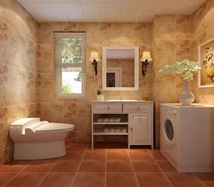 家庭卫生间瓷砖装修效果图