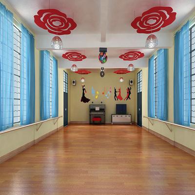 舞蹈房背景墙效果图