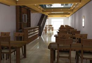 50平小餐馆装修效果图