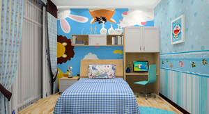 儿童床头装饰效果图