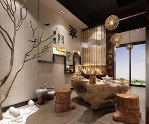 中式茶叶店装修效果图