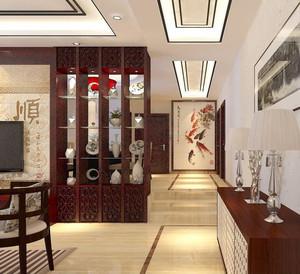 中式客厅隔断柜效果图