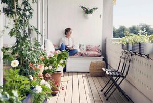 花园洋房顶层露天阳台效果图