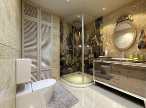 欧式宾馆卫生间装修效果图