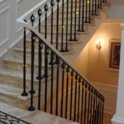 别墅室内楼梯栏杆图片