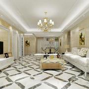 客厅地板砖拼花效果图