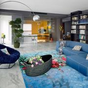客厅灰色地砖铺贴效果图