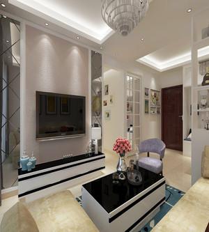 小型美式客厅电视背景墙装修
