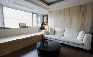 榻榻米代替沙发效果图