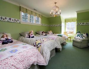 儿童房墙壁颜色效果图