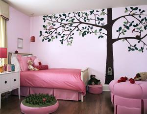 儿童房手绘背景墙装修效果图