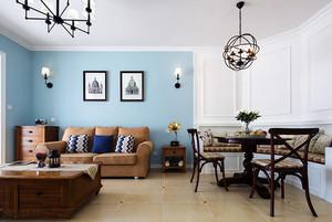 美式客厅仿古砖效果图赏析
