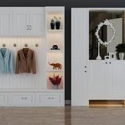 门口可挂衣服鞋柜图片