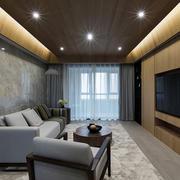 简约风格浅灰色瓷砖客厅效果图