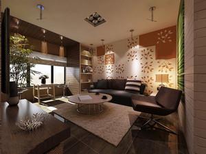 长方客厅两个灯效果图
