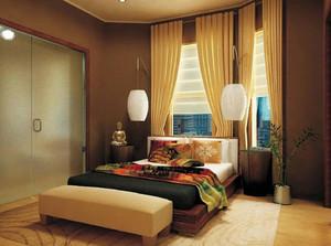 卧室短款窗帘效果图