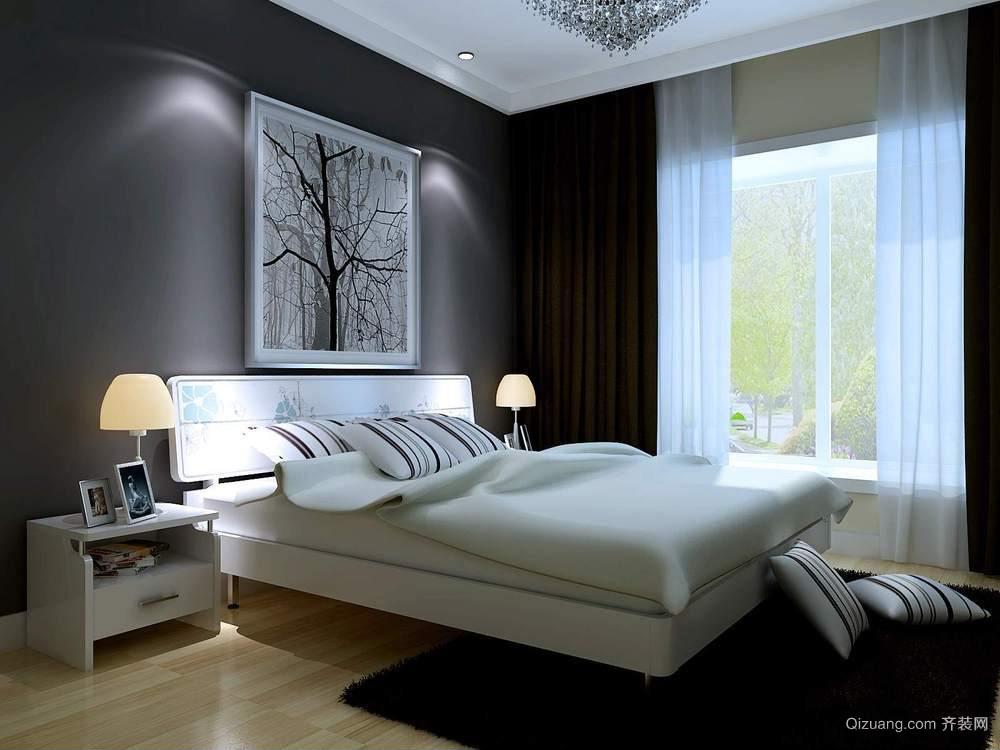 现代简约床头背影墙案例