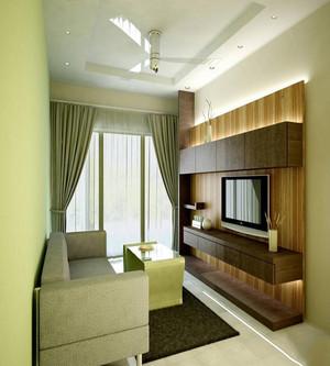 木工石膏板电视墙造型