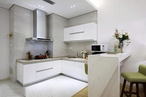 白色厨房砖搭配效果图