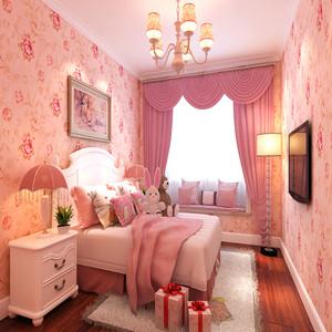 粉色系少女房间装修效果图