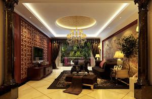 中式别墅客厅吊灯图片大全