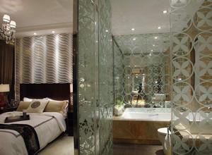 主卧卫生间玻璃隔断墙