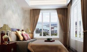 高飘窗窗帘装修效果图