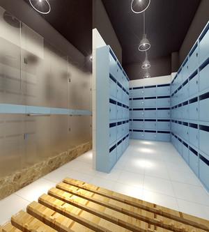 时尚健身房浴室设计效果图