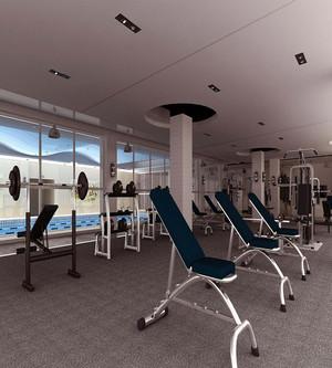 大型健身房装修效果图